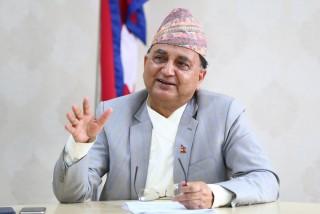 'हामी नेपाली स्वाधीनता र स्वतन्त्रताका पक्षपाति हौँ, कोही कसैसँग झुक्दैनौँ'– रक्षमन्त्री पोखरेल