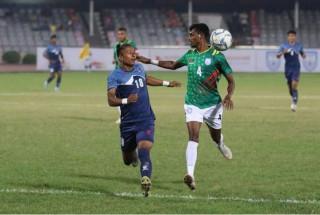 नेपाल र बंगलादेशबीचको दोस्रो मैत्रीपूर्ण फुटबल गोलरहित बराबरीमा