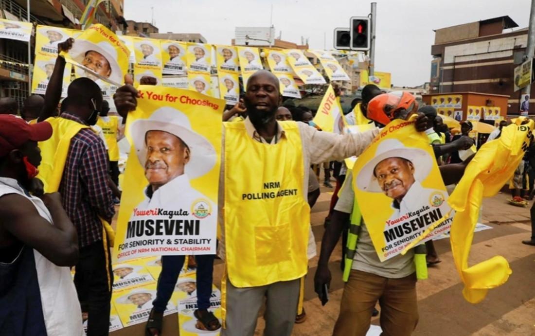 युगान्डाको राष्ट्रपतिमा मुसेभेनी पुन निर्वाचित